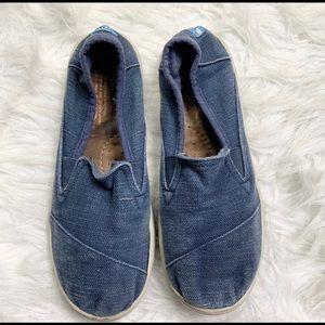 MAKE OFFER TOMS LUCA SLIP ON SNEAKER BLUE Y5